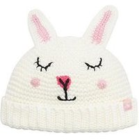 Joules Baby Girl Bunny Hat, White, Size 1-2 Years
