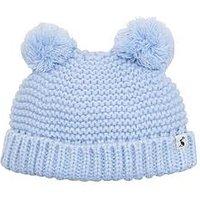 Joules Baby Boy Pom Pom Hat, Sky Blue, Size 0-6 Months