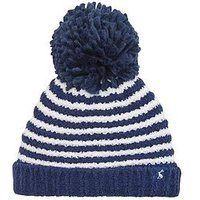 Joules Baby Boy Pom Pom Hat, Navy, Size 1-2 Years