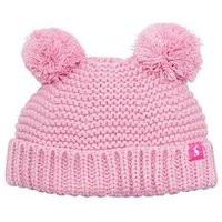 Joules Baby Girlpom Pom Hat, Pink, Size 1-2 Years
