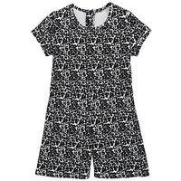 Mini V by Very Girls Animal Print Playsuit, Multi, Size 6-9 Months, Women