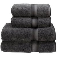 Product photograph showing Christy Supreme Hygro Reg Supima Cotton Towel Collection Ndash Graphite - Bath Sheet