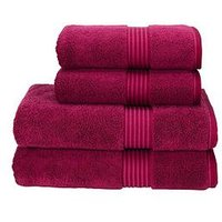 Product photograph showing Christy Supreme Hygro Reg Supima Cotton Towel Collection - Raspberry - Bath Sheet