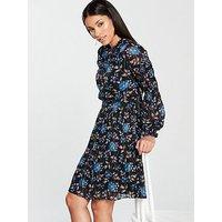 Whistles Elderberry Print Dobby Dress