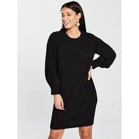 WHISTLES Whistles Tihara Textured Dress, Black, Size 6, Women