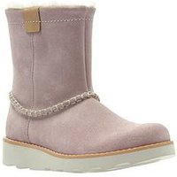 Clarks Crown Piper Infant Boot, Pink Suede, Size 12 Younger