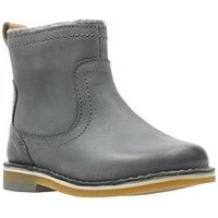 Clarks Comet Frost First Boot, Grey, Size 4.5 Younger