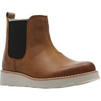 Clarks Crown Halo Infant Boot, Tan, Size 10.5 Younger