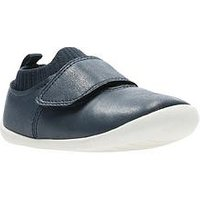 Clarks Roamer Seek First Shoe, Navy, Size 2 Younger