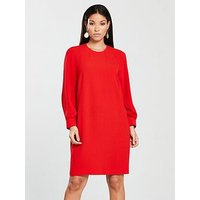 WHISTLES Whistles Tihara Textured Dress, Red, Size 14, Women