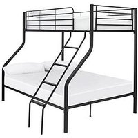 Product photograph showing Domino Metal Trio Bunk Bed - Bed Frame Only