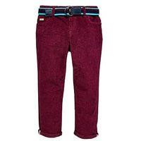 Baker by Ted Baker Toddler Boys Cord Chino, Plum, Size 3-4 Years
