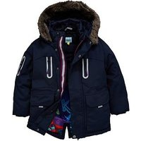 Baker by Ted Baker Toddler Boys Parka Coat - Navy, Navy, Size Age: 12-18 Months