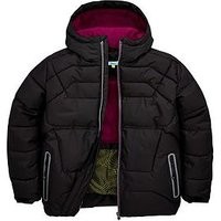Baker by Ted Baker Boys Mock Down Padded Coat, Black, Size Age: 5 Years