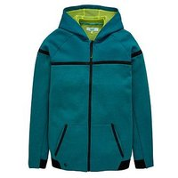 Baker by Ted Baker Boys Modern Panel Hooded Sweat, Green, Size 12-13 Years