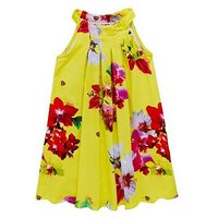 Baker by Ted Baker Girls Floral Sun Dress, Yellow, Size 12-18 Months, Women