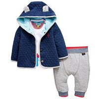 Baker by Ted Baker Baby Boys 3 Piece Popper Sweat , Zebra Tee And Jogger, Multi, Size 0-3 Months