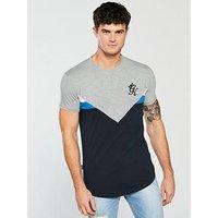 Gym King Escobar Short Sleeve Tee, Grey Marl/Navy, Size Xl, Men