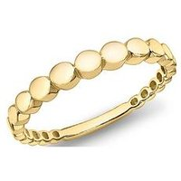 Love GOLD 9ct Gold Graduated Circle Ring, Gold, Size P, Women