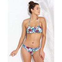 V by Very Mix & Match Hipster Bikini Brief, Aqua Print, Size 12, Women