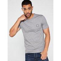 BOSS by Hugo Boss Casual Crew Neck T-Shirt - Grey, Grey Marl, Size Xl, Men