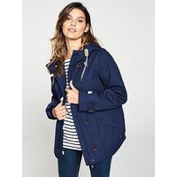 Joules Coast Waterproof Hooded Jacket, Navy, Size 12, Women
