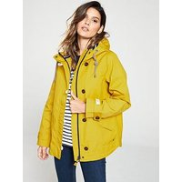 Joules Coast Waterproof Hooded Jacket - Yellow, Yellow, Size 12, Women
