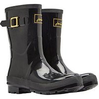 Joules Kelly Welly Gloss Trublack, True Black, Size 3, Women