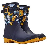 Joules Molly Welly Navbotan, Navy Botanical, Size 7, Women