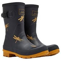 Joules Molly Welly Blkdfly, Black Dragonfly, Size 8, Women