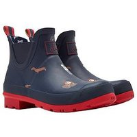 Joules Wellibob Welly Navdogs, Navy Dogs, Size 5, Women