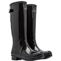 Joules Field Gloss Welly Black, Black, Size 6, Women