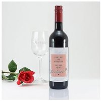 Personalised I Cant Say I Do Without You Bottle Of Wine And Glass In A Hamper Giftbox (Red, White And Rose Option), Red, Women