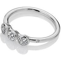 Hot Diamonds Raindrops Trilogy Ring, Silver, Size P, Women