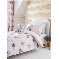 Product photograph showing Catherine Lansfield Woodland Friends Easy Care Duvet Cover Set - Single