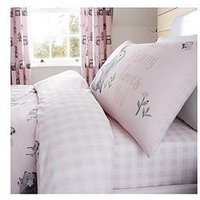 Product photograph showing Catherine Lansfield Woodland Friends Easy Care Fitted Sheet - Double