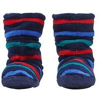 Joules Boys Slipper Socks - Multi Stripe, Multi, Size M