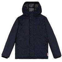 Boys, Hunter Kids Rubberised Waterproof Jacket, Navy, Size Age: 7-8 Years