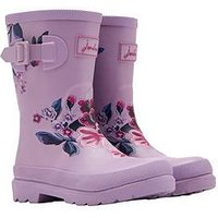 Joules Girls Floral Wellies - Lilac, Lilac, Size 12 Younger
