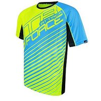 Force MTB Attack Jersey, Yellow/Blue, Size L, Men