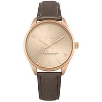 Hype Holographic Rose Gold Dial Grey PU Strap Watch, One Colour, Women