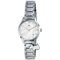 Radley Radley White Dial with Silver Dog Charm Stainless Steel Bracelet Ladies Watch, One Colour, Women