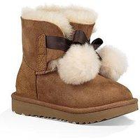 UGG Gita Pom Pom Boot, Chestnut, Size 9 Younger