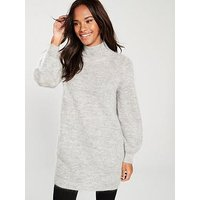 WHISTLES Mohair Funnel Neck Tunic, Grey Marl, Size S, Women
