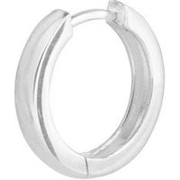 The Love Silver Collection Sterling Silver Single Huggie Hoop Men's Earring, One Colour, Men