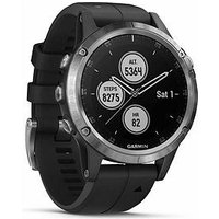 Garmin Fenix 5 Plus - Silver With Black Band