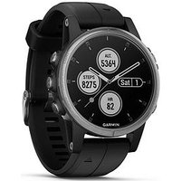 Garmin Fenix 5s Plus - Silver With Black Band