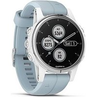 Garmin Fenix 5s Plus - White With Seafoam Band