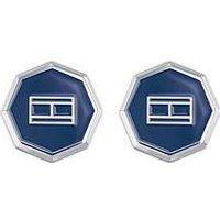 Tommy Hilfiger Tommy Hilfiger Stainless Steel Octagonal Blue Cufflinks, One Colour, Women