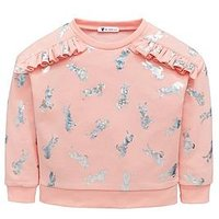 Mini V by Very Holographic Unicorn Sweat, Pink, Size Age: 5-6 Years, Women